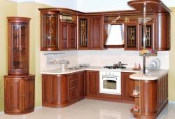 Образец кухни из массива дерева №1 на заказ